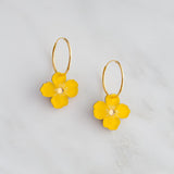 Poppy Hoops Earrings - Saffron