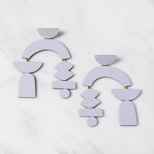 Silhouette Earrings - Lavender