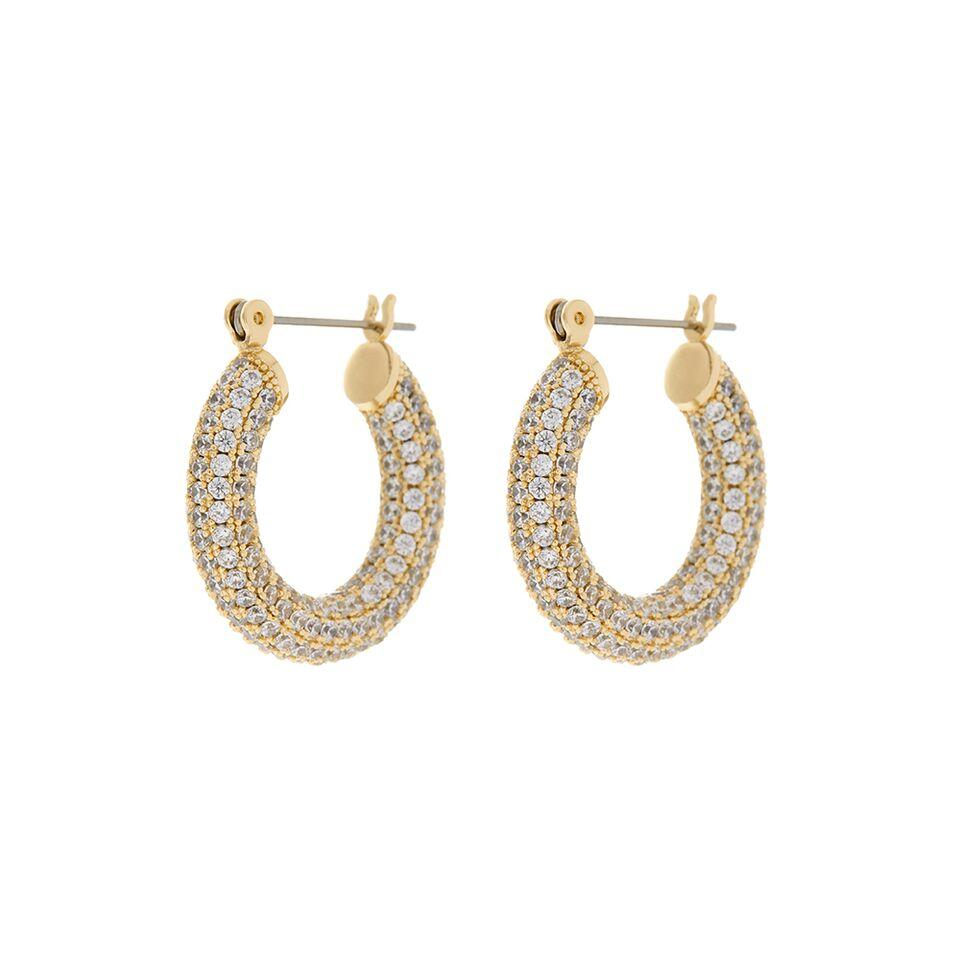 Sai IN Pave Baby Amalfi hoops - Gold
