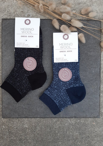 Womens Merino Skin Design Dress Sock Accessories