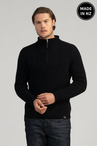 Cable Half Zip Sweater Mens
