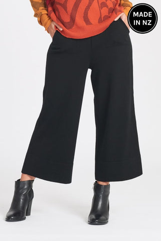 Cropped Wide Leg Pant Womens