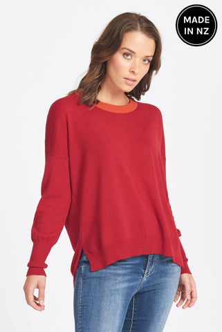 Drop Shoulder Jumper Womens
