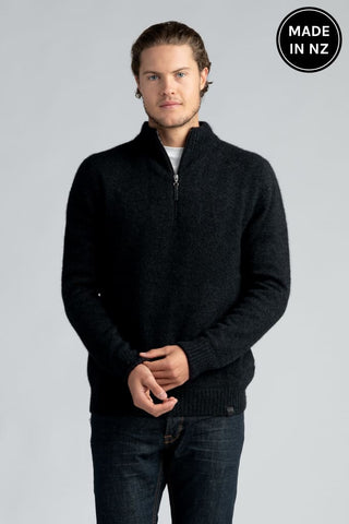 Half Zip With Stripes Mens