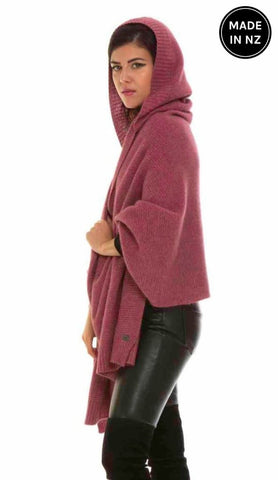 Hooded Wrap Womens