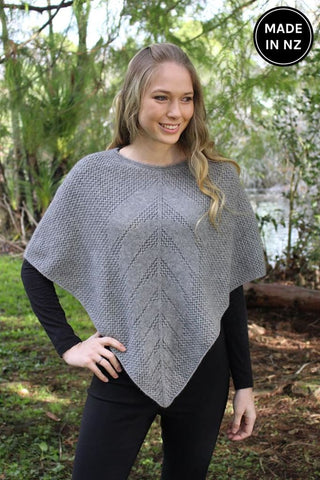 Lace Poncho Womens