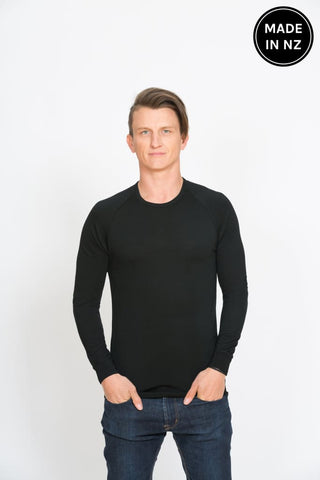 Long Sleeved Crew Neck Mens