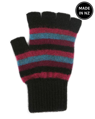 Multi Stripe Fingerless Glove Accessories