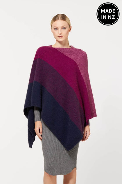 Ombre Poncho Womens