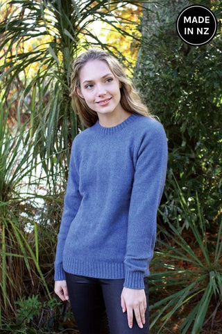 Plain Crew Neck Jumper Womens
