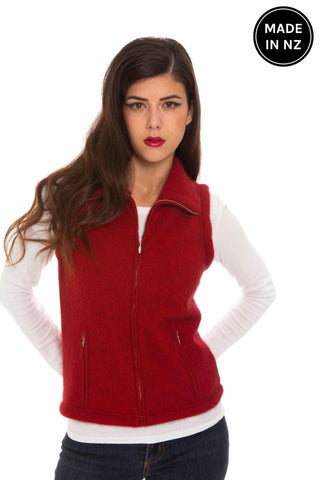 Possum Merino Zip Vest Womens