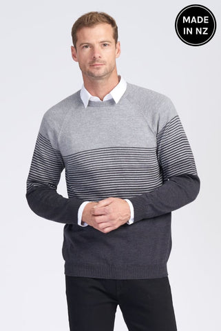 Raglan Graduated Stripe Jumper Mens