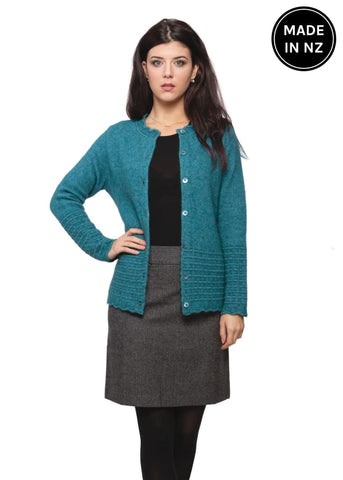 Scalloped Edge Cardigan Womens