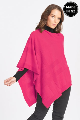 Self Grid Poncho Womens