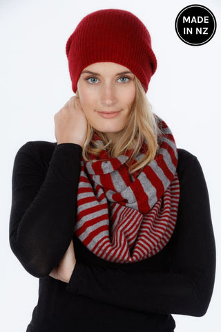 Striped Endless Scarf Accessories