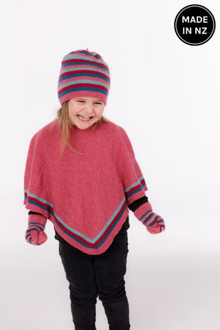 Striped Poncho Kids