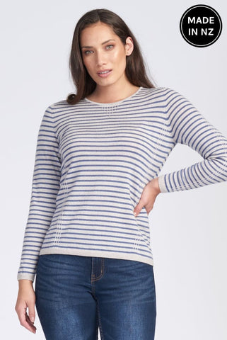 Tuck Stitch Stripe Jumper Womens