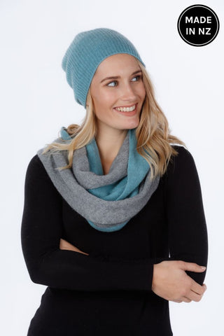 Two Tone Endless Scarf Accessories