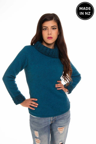 Two Tone Trim Jumper Womens