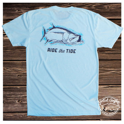 performance fishing tshirt with tarpon from mwc