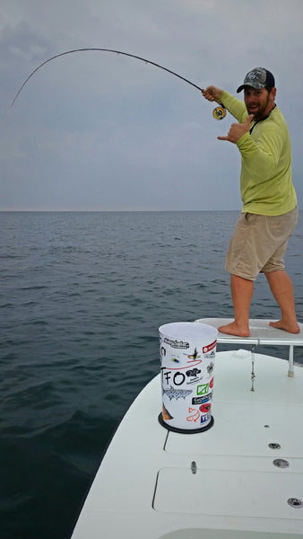 Capt. Mauser fishing on the fly for albacore