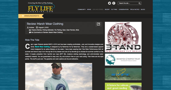 fly life magazine reviews marsh wear clothing