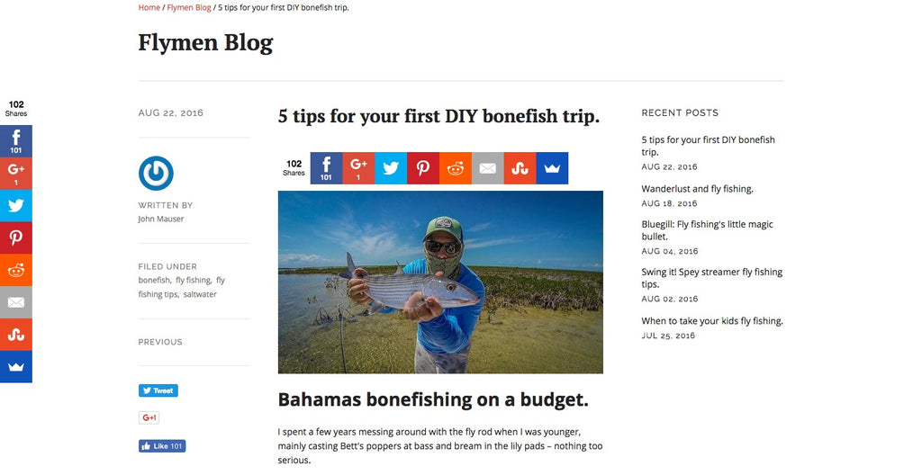 mwc featured in flymen fishing blog