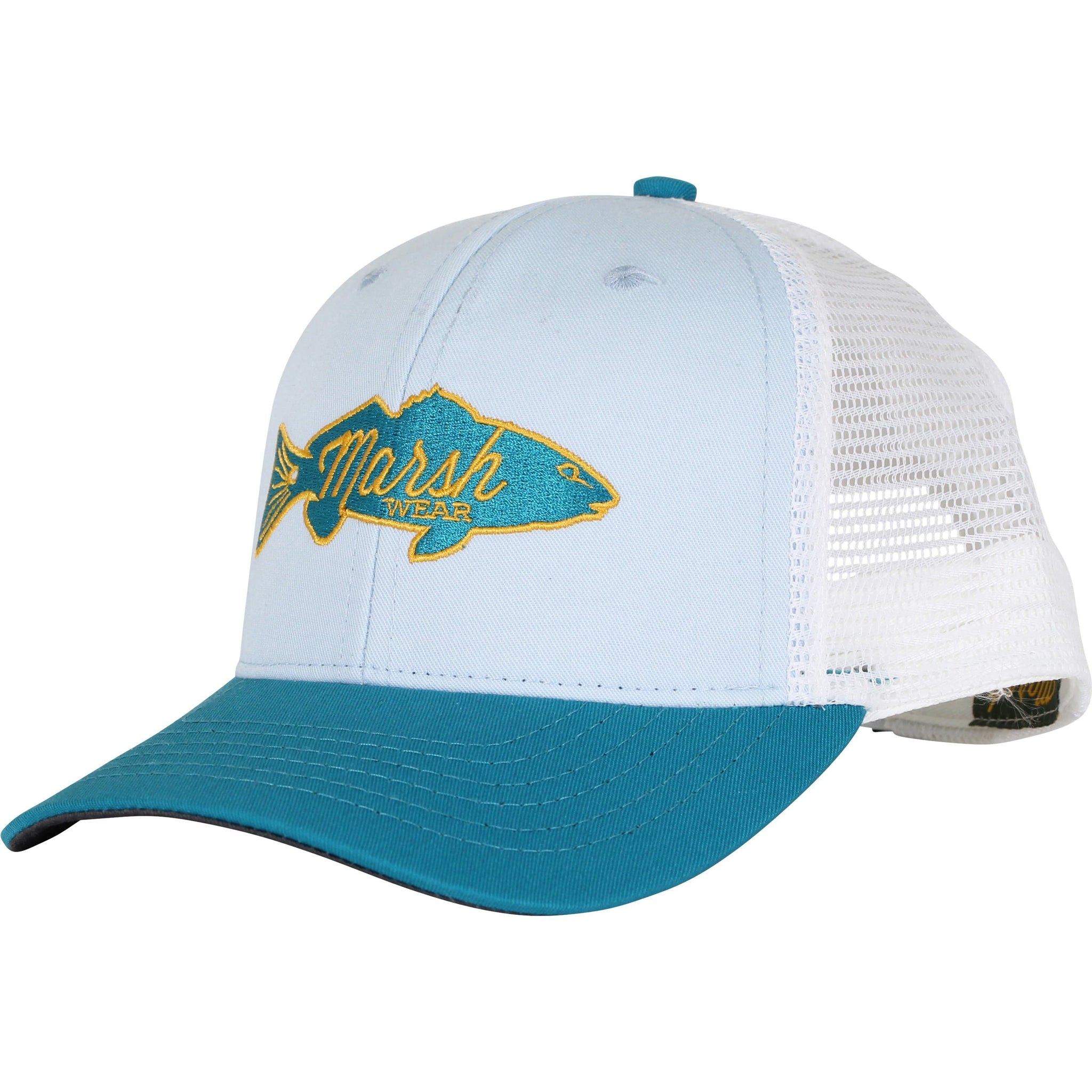 03c43be8f Home ALL Retro Redfish Trucker Hat. Silver Gray. Light Blue