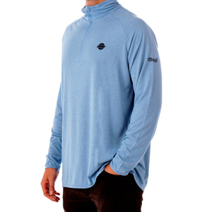 Everglade Pamlico Perf 1/4 Zip LS Performance Knit