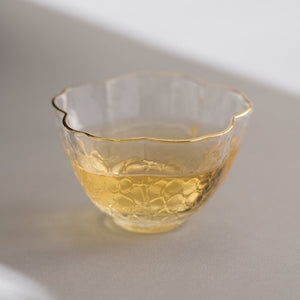 Tea Cup | Glass Flower Design | Esteemed Tea Co.