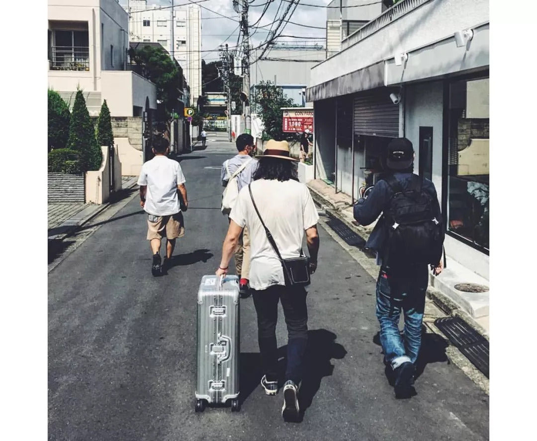 With Crew In Japan
