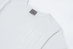 F. CLASSIC Simple Pocket T White