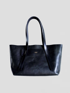 Mastery Leather Tote Bag Black