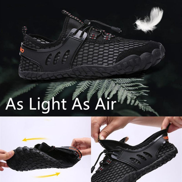 Men's Summer Breathable Mesh Fabrics Quick Drying Water Fitness Sneakers