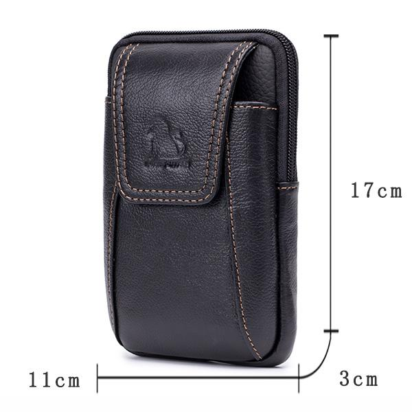 Genuine Leather Cowhide Bags For Men Men's cell phone Messenger Bag 110668