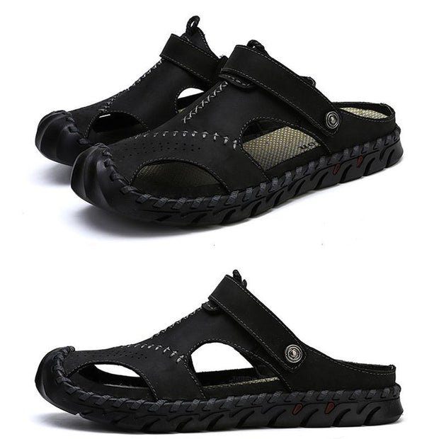 Men's sandals beach shoes casual set foot hand slippers