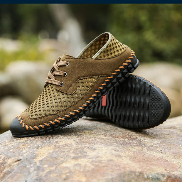Men Breathable Honeycomb Mesh Loafers Soft Sole Outdoor Casual Shoes