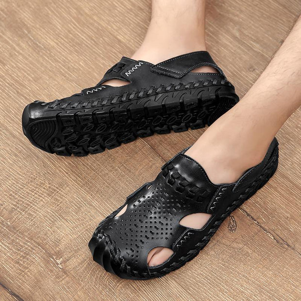 Men's new woven leather sandals