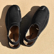 Men Handmade Sandals Dual-use Fashion Casual Beach Shoes