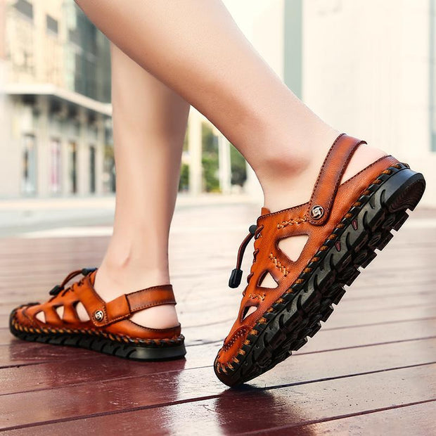 Men's leather sandals summer breathable beach shoes 134562