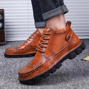 Men's Outdoor Casual Martin Boots Leather Shoes