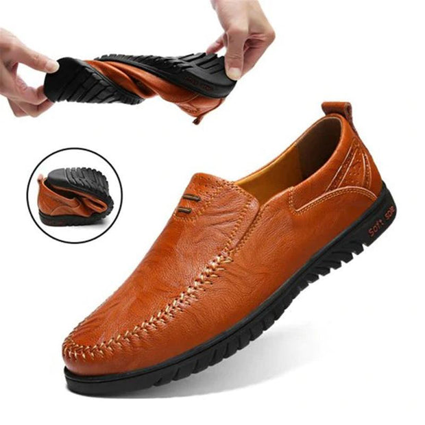 Men's Solid Color Business Cowskin Casual Driving Shoes