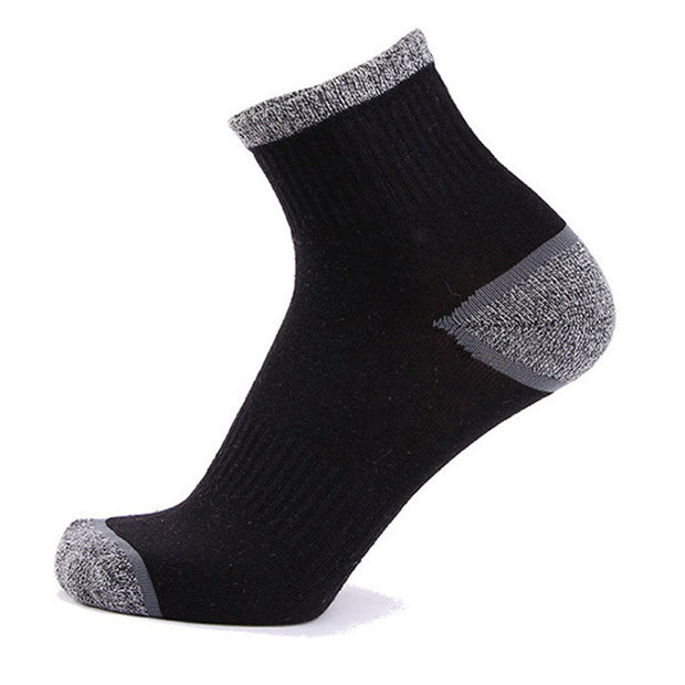 Men Casual Sport Breathable Cotton Middle Tube Socks High Elastic Deodorization Socks