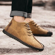 Men's Cow Suede Casual High Zipper Ankle Boots