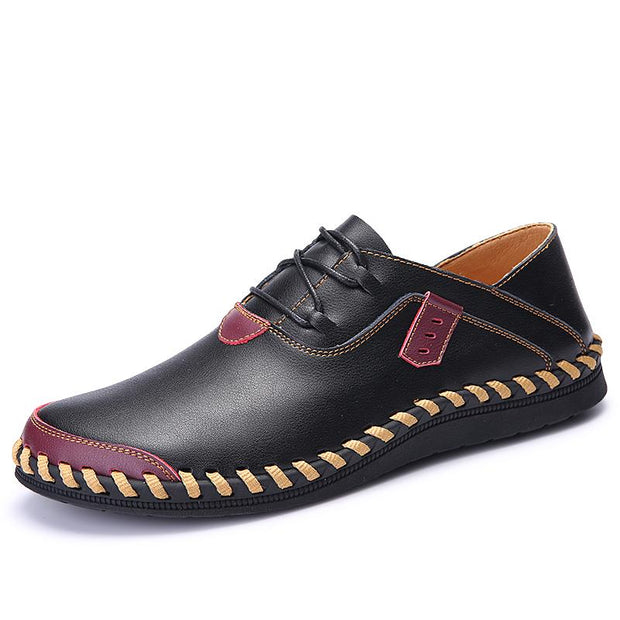Men's Casual Shoes British Style Moccasins Genuine Leather Flats Quality Split Leather Shoes Flats Hot Sale Moccasins