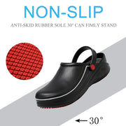 138267 Mens Chef Shoes Non-Slip Safety Shoes Oil Water Resistant Casual Flat Shoes