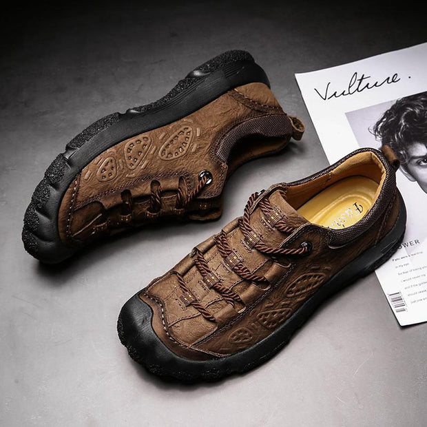 Men's outdoor leisure mountaineering shoes leather shoes