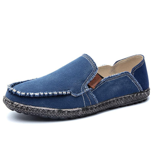 Men breathe freely retro slip-on shoes classic canvas shoes