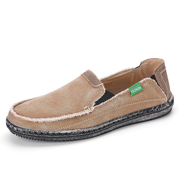 Men breathable and comfortable canvas shoesretro slip-on shoes