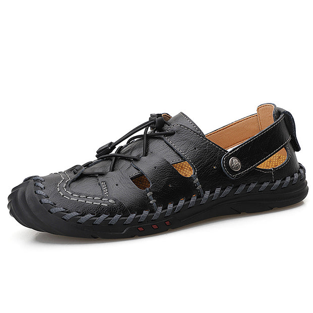 Men's plus size outdoor handmade sandals leather casual shoes
